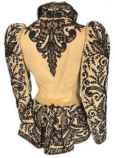 """""""1891 Wool Soutache Jacket."""" Oh my word. This makes my knees buckle. Stunningly beautiful!!!"""