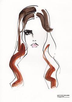 Miyuki Ohashi fashion illustration, Lana Del Rey