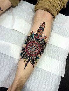 Resultado de imagem para dagger flower tattoo