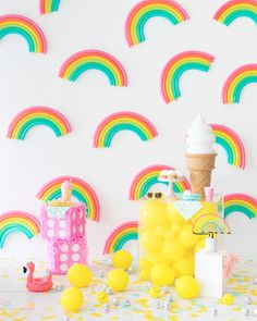 idées fond photobooth pour borne photo - Mister Like That Rainbow Party Decorations, Rainbow Parties, Rainbow Birthday Party, Birthday Parties, Rainbow Theme, Summer Parties, Summer Fun, Mini Balloons, Rainbow Balloons