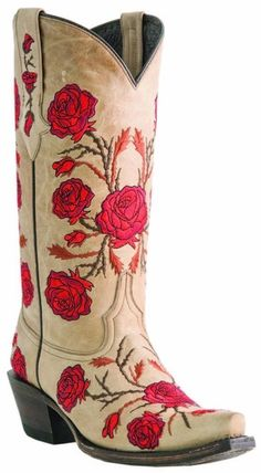 Lucchese M5645 Womens Natural Tan Leather Western Cowboy Boots with Rose Stitch | eBay