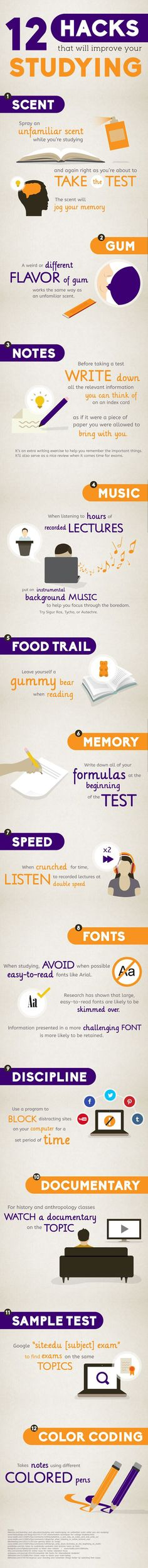 12 Hacks That Will Improve Your Studying #study #tips
