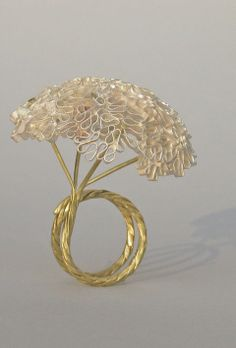 Rossella Tornquist twisted wire ring.  Love the delicate work here.  If you like this please repin, like and/or add a comment. Thanks  Source: bijoucontemporain blog  20130214 20:02