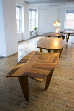 Wooden tangram tables, Martino Gamper