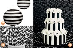 black and white striped lanterns - Google Search