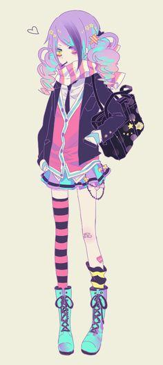anime heterochromia / odd eyes yellow pink