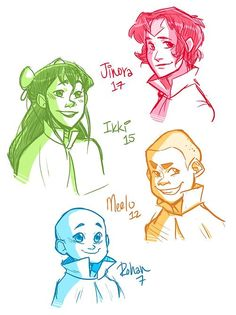 Some older airbabies just because. I honestly think Jinora will grow out her hair (at least I hope she does!).