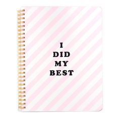 rough draft mini notebook - i did my best #bts-15 #ticket-stripe