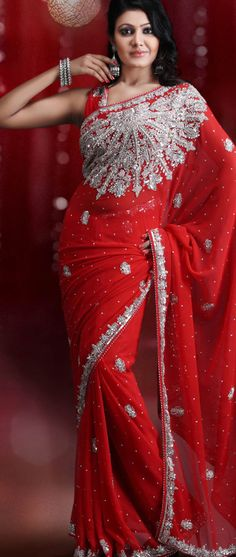 #Red #Saree with Blouse @ $110.49