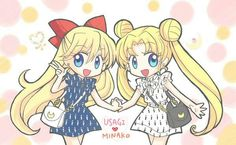 Usagi Minako ❤ This seems like one of their outfits they would wear if it took place in the 10's.