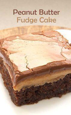 Best Peanut Butter Fudge Cake