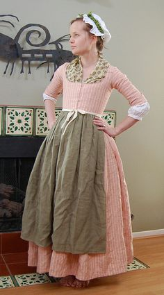 Striped Linen Round Gown by koshka_the_cat, via Flickr