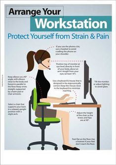 office ergonomics : arrange your workstation