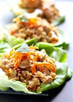 Healthy Chicken Lettuce Wraps – These low-carb chicken wraps really hit the spot when you want something light and healthy but filling {Gluten-Free, Clean Eating, Dairy-Free}.