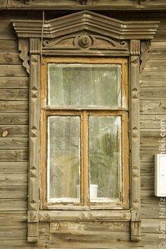 Traditional Russian wooden window carved platband. Традиционный русский резной деревянный оконный наличник #2