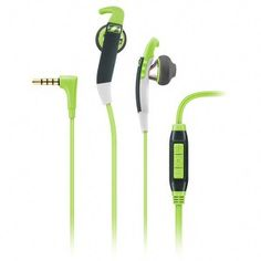 Sennheiser MX 686G Sports Earphones Inc In-Line Remote & Mic - Green/Grey