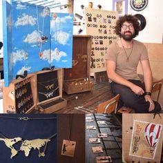 Marco Lucino di Revolù Art, un artigiano, un appassionato del riciclo, che lavora il metallo riproducendo alcune delle più significative opere di street art