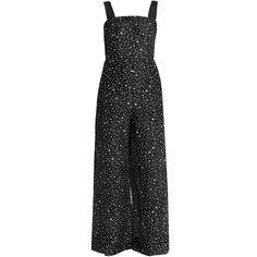 Diane Von Furstenberg Viete jumpsuit ($265) ❤ liked on Polyvore featuring jumpsuits, jumpsuit, black multi, diane von furstenberg, holiday jumpsuits, jump suit, cocktail jumpsuit and wide leg jumpsuit