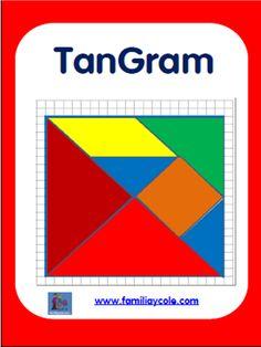 Juego de Tangram para descargar y construir. El juego tiene diferentes aplicaciones: estimula la orientación y el razonamiento espacial.