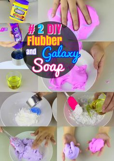 DIY Soap Crafts: #2 How to Make Squishy Flubber and Galaxy Homemade Soaps. How to make easy liquid soap and melt and pour bar soap.