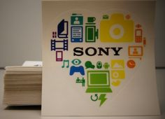 The official Sony heart sticker. Leave us a comment and we'll send you one!