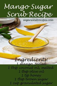 Mango Sugar  Scrub Recipe- diy sugar scrub