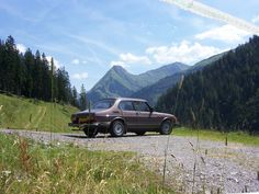 Saab 99 in the Alps.