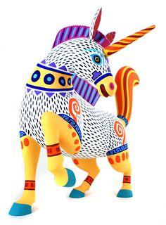 Oaxacan Wood Carvings Gallery Luis Pablo Unicorn