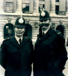 "PCs Dan Hyndman and Dennis ""Tug"" Wilson. Nottingham City Centre, Good Old Times, Belfast, Family History, Yorkshire, My Photos, The Past, Landscapes, English"