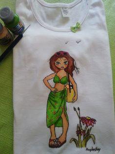 Mis manos y yo el blog de Angeleskay: camisetas pintadas a mano