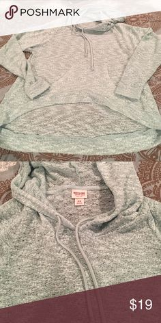 NEVER WORN long sleeve hoodie from target! Comfy😍 NEVER WORN long sleeve hoodie from target! Size M. Shorter in the front than the back Mossimo Supply Co Tops Sweatshirts & Hoodies