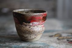 Rustic Red Earthy Cup. $18.00, via Etsy.