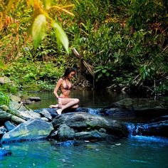 Summer - Ana Francisconi #summer #waterfall #water #anafrancisconi #girl #bikini #vacations #nature #deluxefx