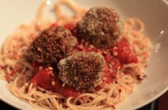 Satisfying Spaghetti and Eggplant Meatballs    Eggplant meatballs are easier to prepare compared to traditional meatballs because they don't need to be tended to as much as their meaty counterparts.