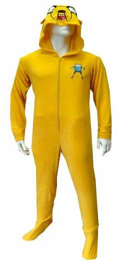 OMFG. Amazon.com: Adventure Time Jake The Dog Onesie Footie Pajama: Clothing