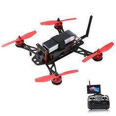 AKASO F250A FPV RC Racing Drones QAV 250 CC3D Flight Controller + HD Camera +Remote Control +AV Transmitter+ 4.3 inch LCD display