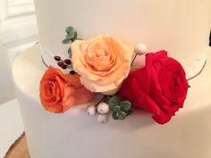 Autumn wedding cake - middle tier