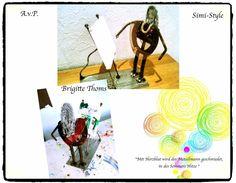 """""""Soldier:Brigitte Thoms"""" by A.v.P. & Simi-Style -Mit Herzblut wird der Metallmann geschmiedet, in des Sommers Hitze- (B.Thoms)  Aus der Serie """"Soldiers of Hearts"""""""