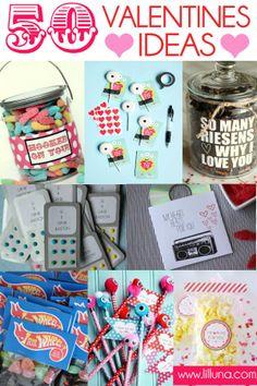50 Valentine's Ideas-Lil' Luna #valentine #valentines