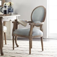 Louis Fabric Back Armchair - Esszimmer Ideen Dining Room Chairs, Dining Room Furniture, Steel Furniture, Lounge Chairs, Camp Chairs, Dining Table, Cheap Office Chairs, Restaurant Chairs For Sale, French Chairs