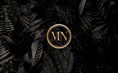 Black Fern Event & Wedding Website / Black & Gold / Foliage / Leaves / Modern / Customizable
