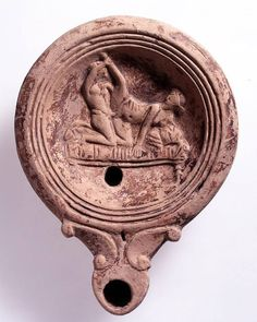 Roman lamp with an erotic scene AD Roman (Source: The British Museum) Sculptures Céramiques, Lion Sculpture, Pompeii History, Art Through The Ages, Art Of Love, Roman History, Black History Facts, Historical Art, Ancient Artifacts