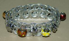 Glass & Metal Beads Bracelet