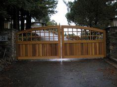 pretty Driveway Gate, Garden Bridge, Fixer Upper, Castle, Deck, Backyard, Outdoor Structures, Outdoor Decor, Home Decor
