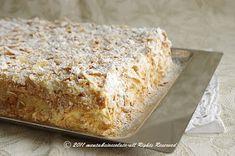 Menta e Cioccolato: Una Torta Delicatissima con un nome imponente!!..Torta Napoleone! Sweet Cakes, Dessert Recipes, Desserts, Biscotti, Banana Bread, Buffet, Bakery, Sweets, San Valentino