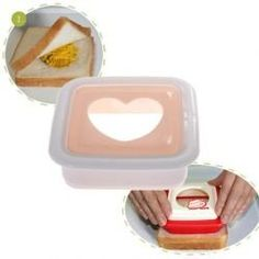 Amazon.com: Heart Style Plastic DIY Sandwich Mold Bread Maker Cutter Japanese Pan Pita Kitchen Tool: Home & Kitchen
