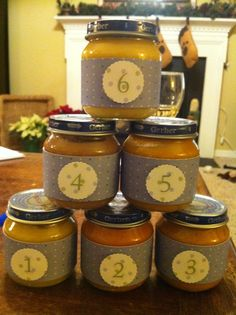 baby food guessing game for Baby Shower