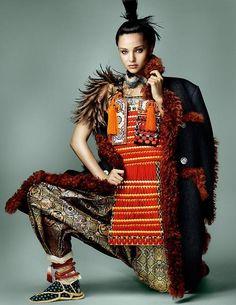 Samurai armor for Vogue Japan 2014
