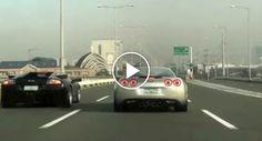 Lamborghini Desafia Corvette Para Corrida Numa Autoestrada No Dubai