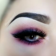 Smokey pink eyeshadow #eye #eyes #makeup #eyeshadow #smokey #dramatic #dark